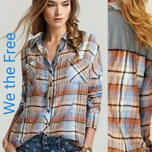 We the Free Plaid Button-up Shirt